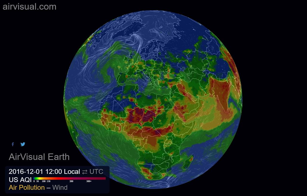 Airvisual karta svijeta