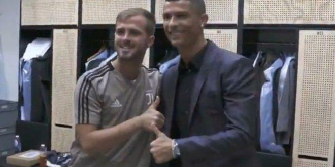 Miralem Pjanić dočekao Cristiana Ronalda u Juventusovoj svlačionici