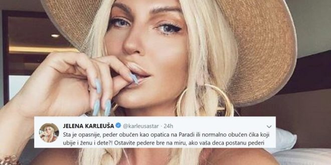 "Karleuša o beogradskom Gay Prideu: ""Ovu zemlju vode opasne pederčine pa ćutite"""