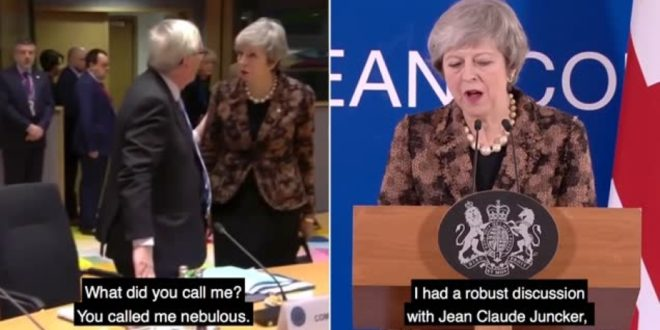 KAMERE UHVATILE NEVJEROJATAN TRENUTAK: Britanska premijerka žestoko napala Junckera: 'Kako si me to nazvao jučer, je li to istina!?'